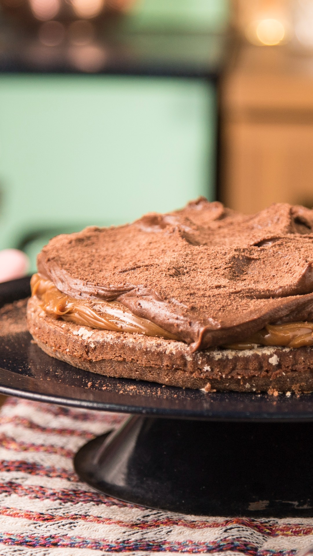 Brownie Cake with Chocolate Mousse