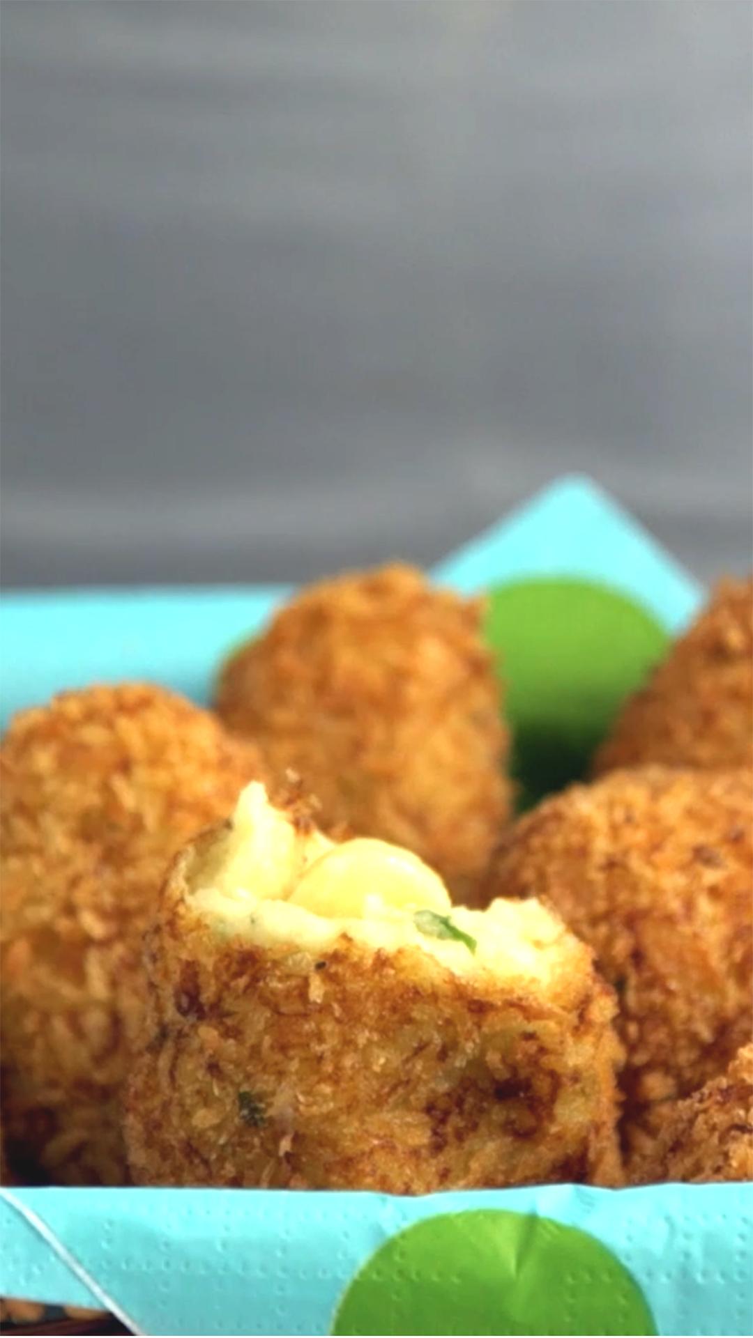 Cheese-Filled Potato Balls