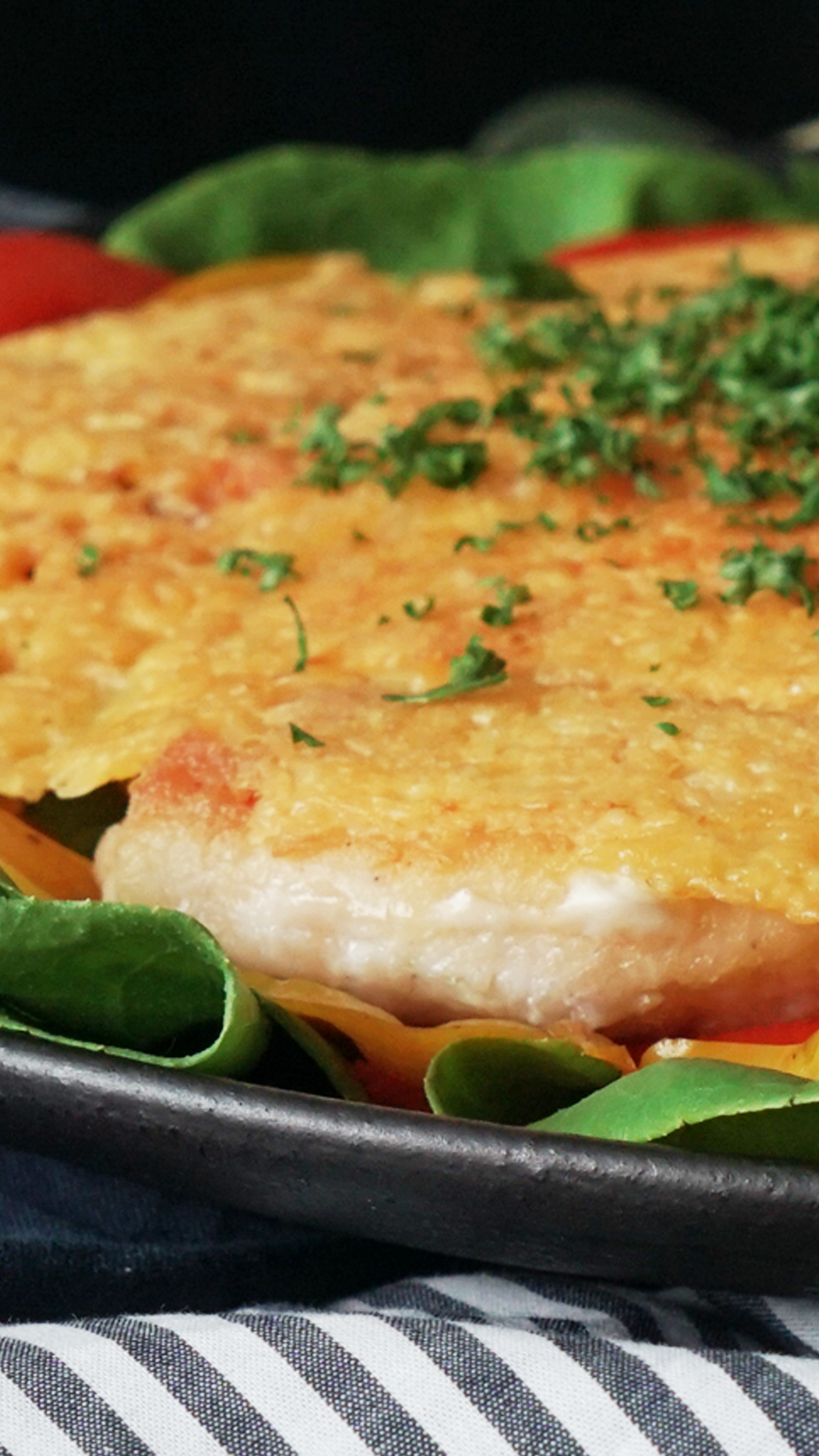 Chicken Breast With Crispy Cheese