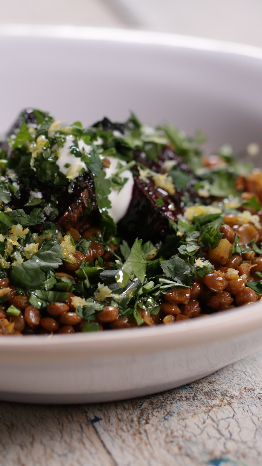 Lentils With Beetroot
