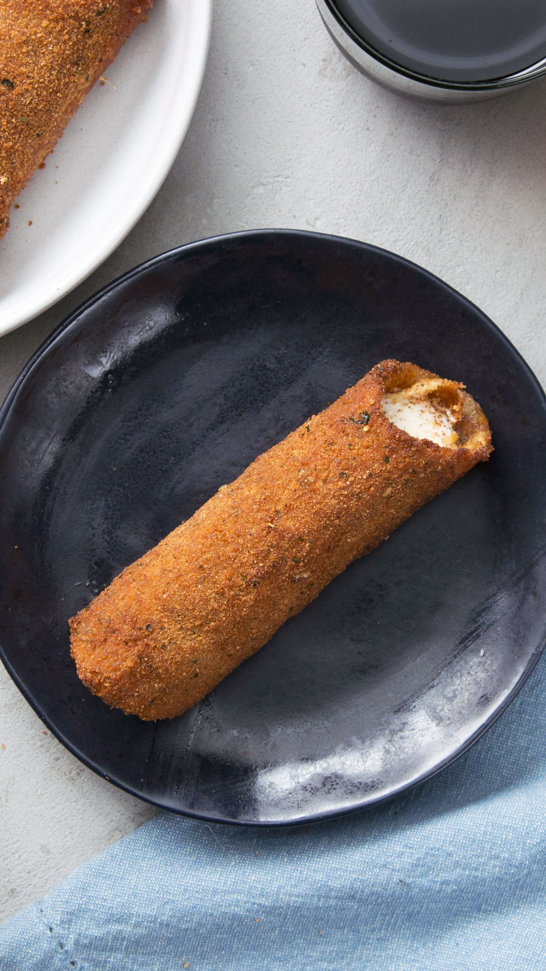 Mozzarella-Stuffed Fried Manicotti