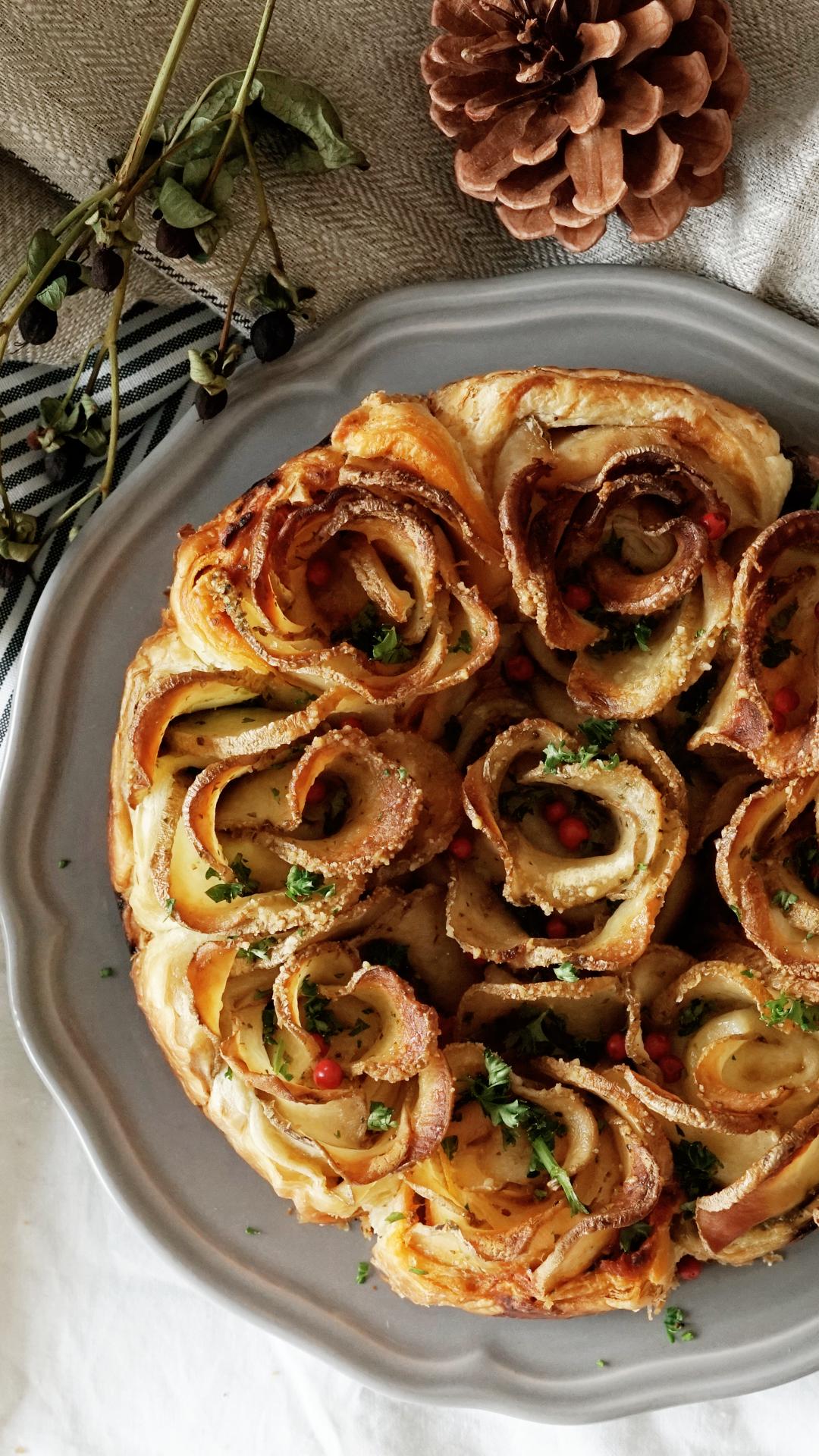 Potato Flower Tartlets