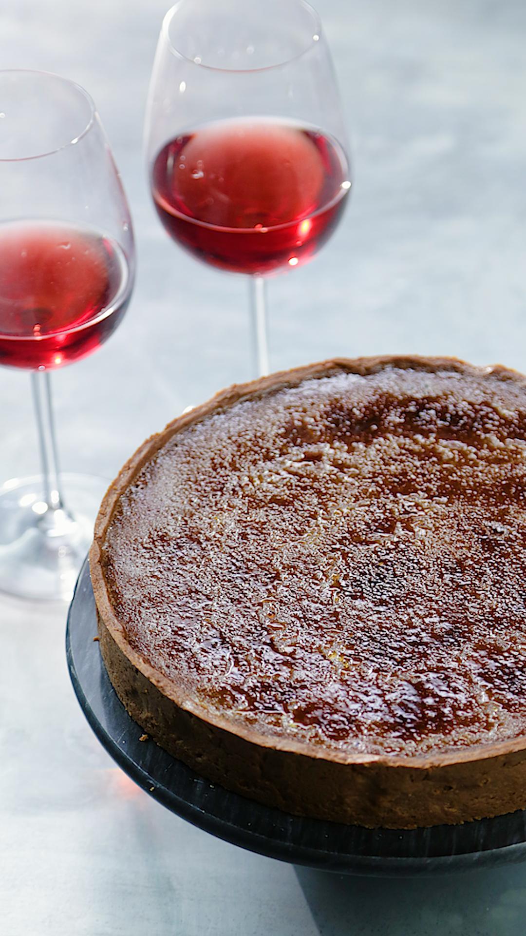 Red Wine Crème Brûlée Tart