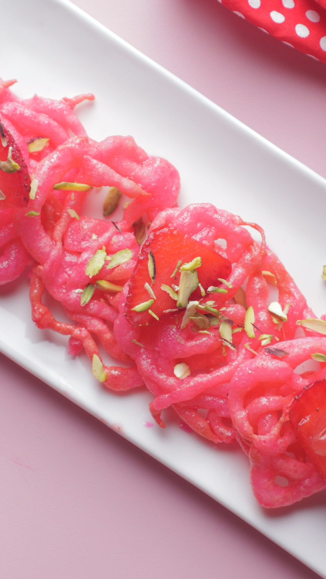 Strawberry Jalebi
