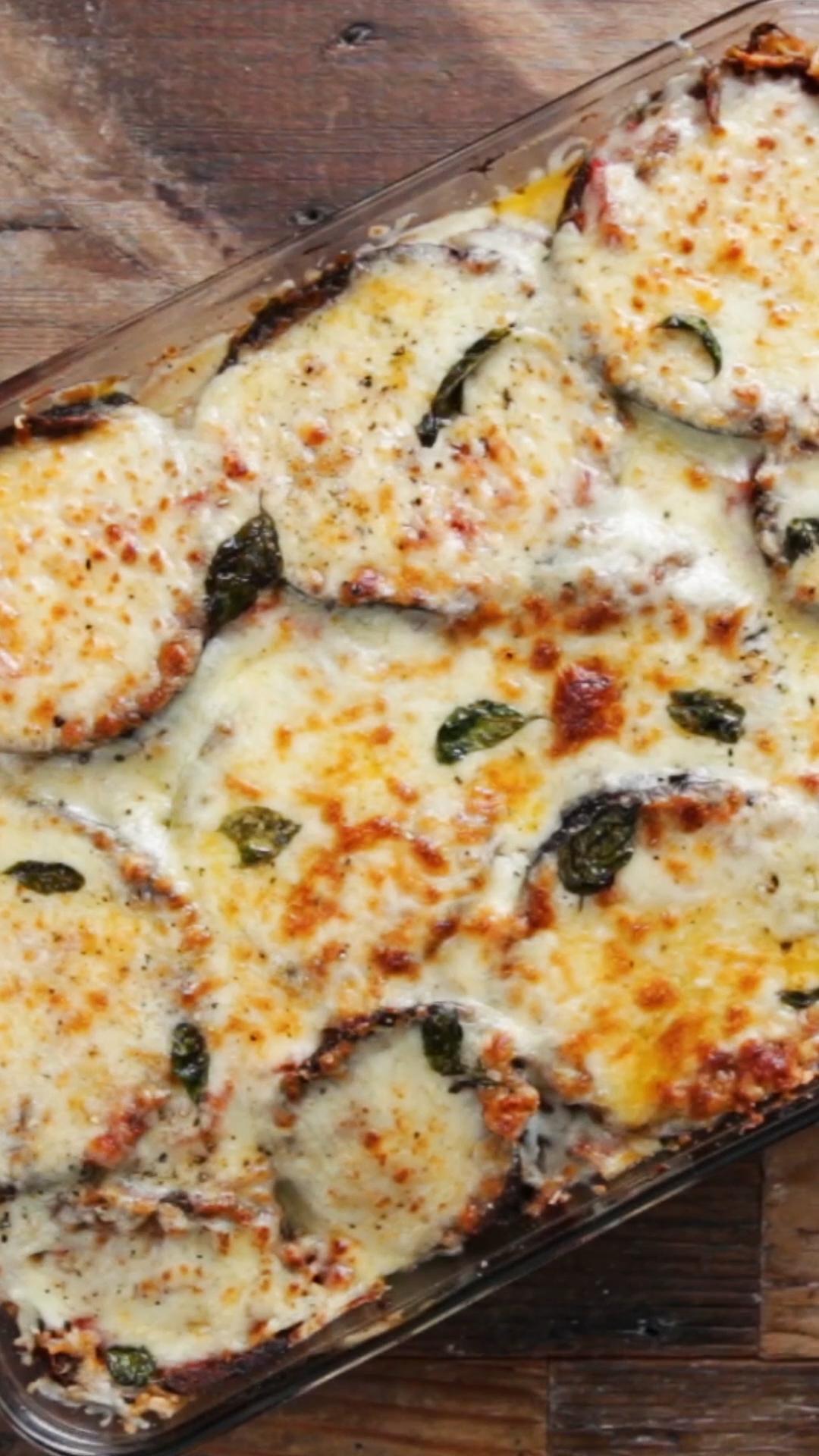 Chicken & Eggplant Parmesan Lasagna