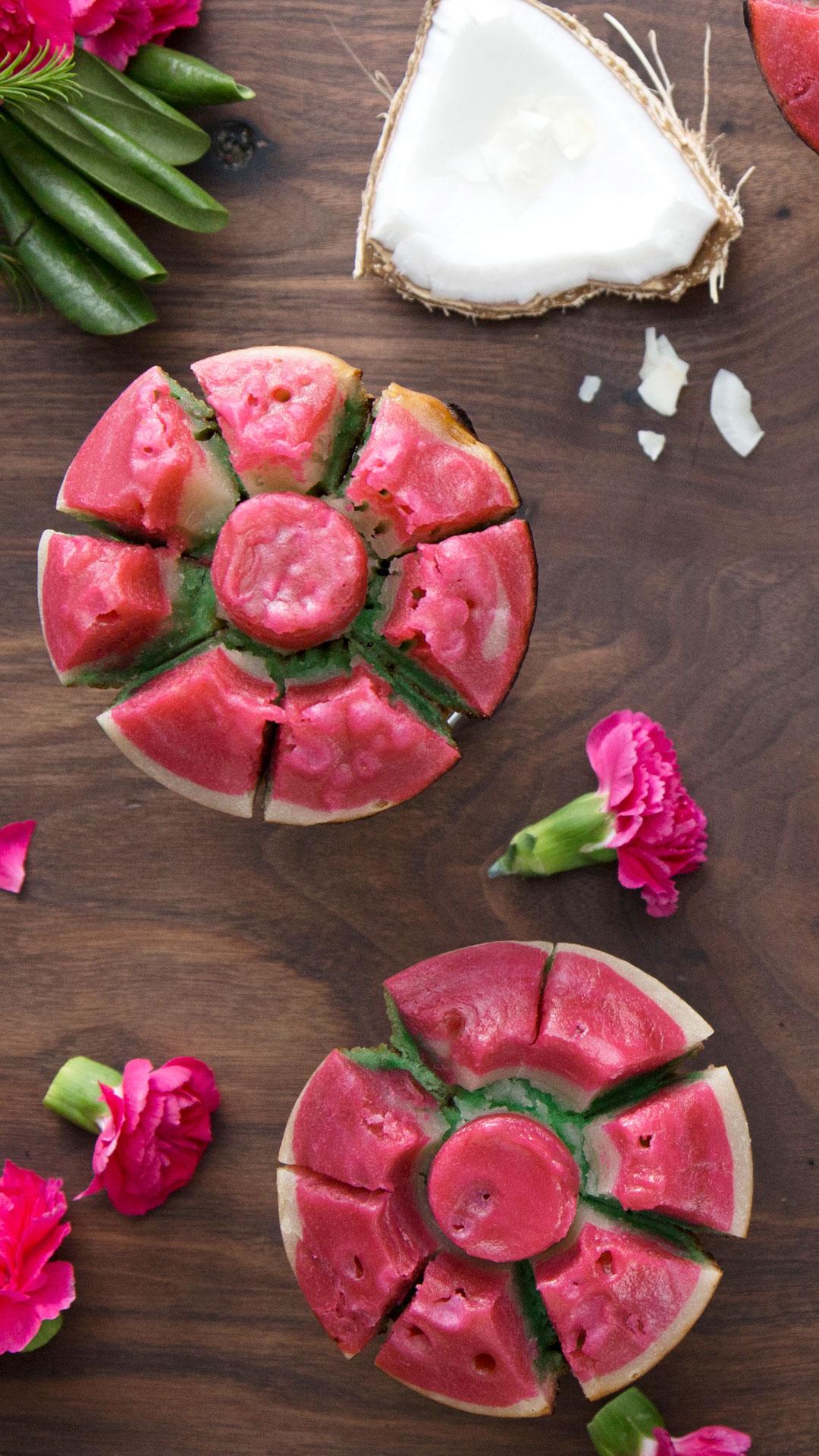 Coconut Rose Cakes