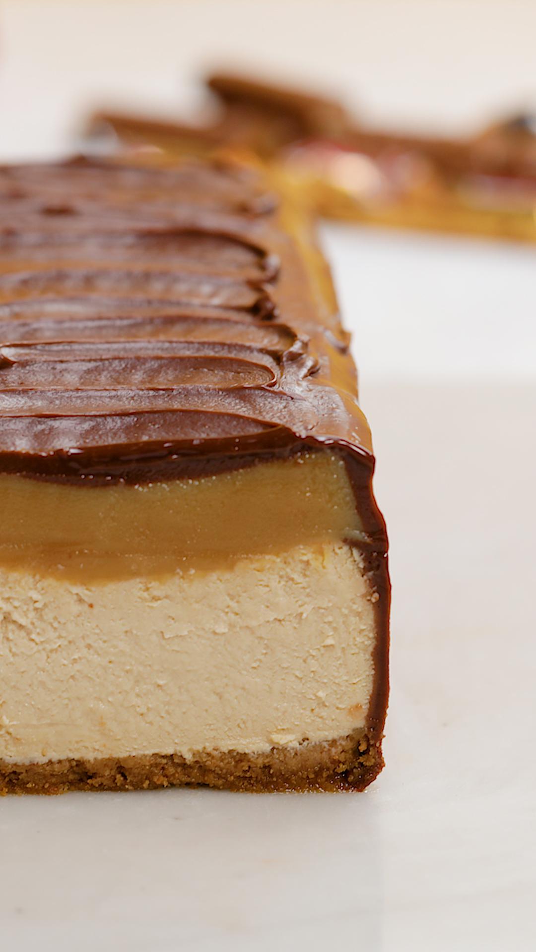 Giant Twix Cheesecake