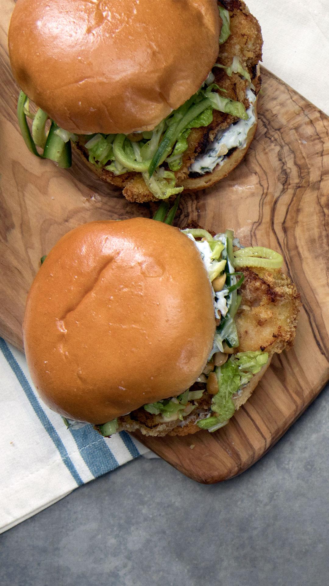 Oven-Fried Chicken Sandwich
